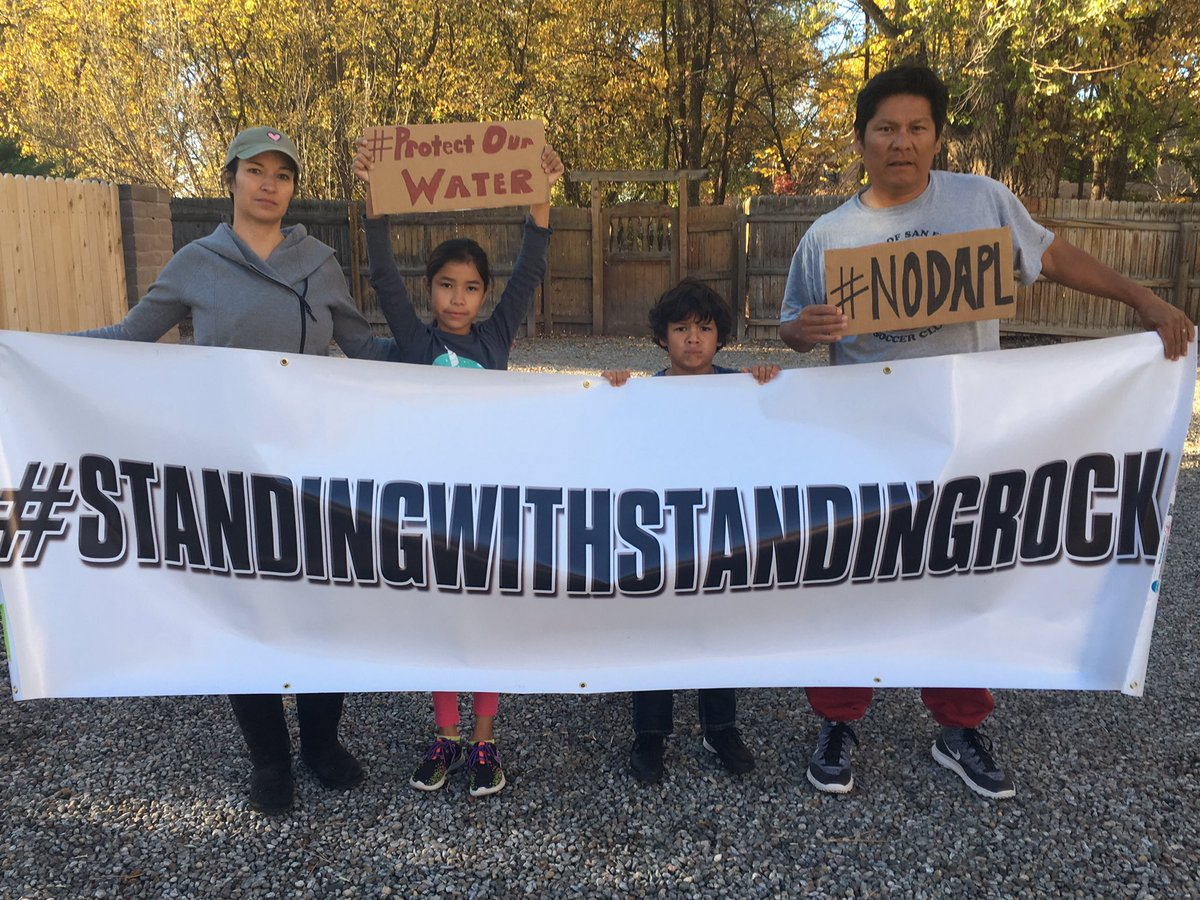 We stand w/ StandingRock! Investors&POTUS, profit shouldn't supercede the rights of our land&it's people! #NoDAPL https://t.co/OKLgh7ZFqz