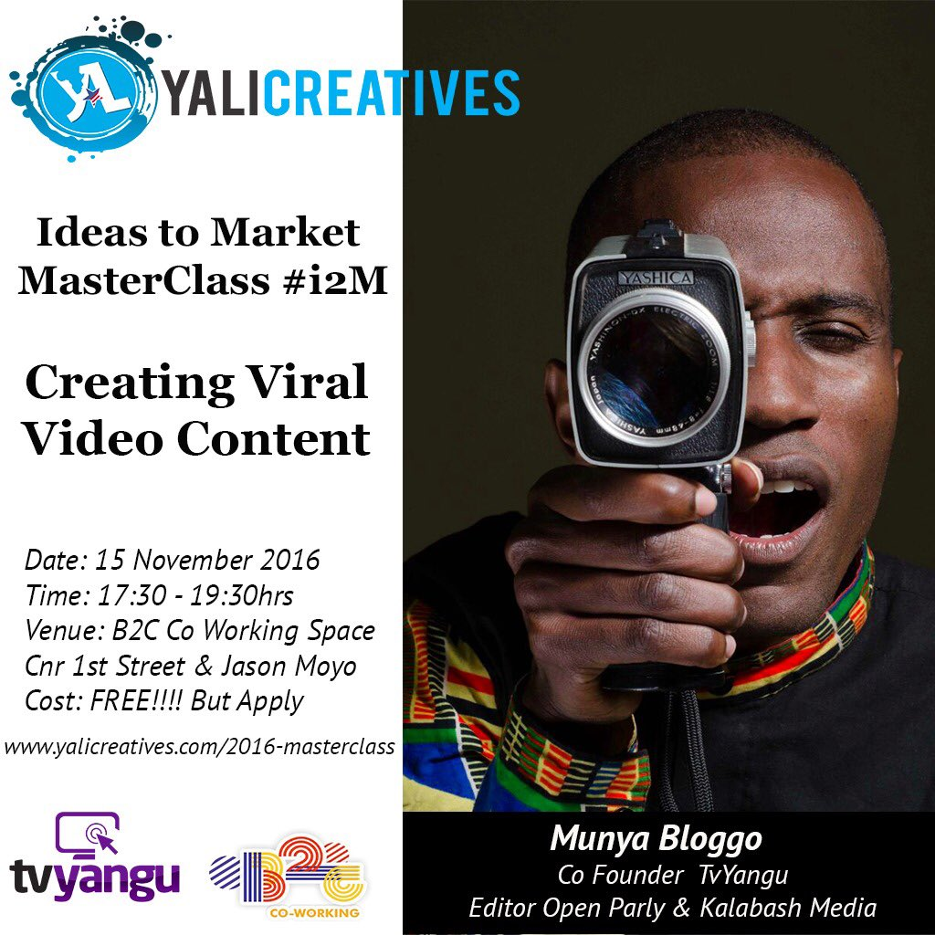 Happening now at Batanai Gardens @TVYangu @YaliCreatives @YALINetwork @MunyaBloggo https://t.co/YyiKK3ZMZf