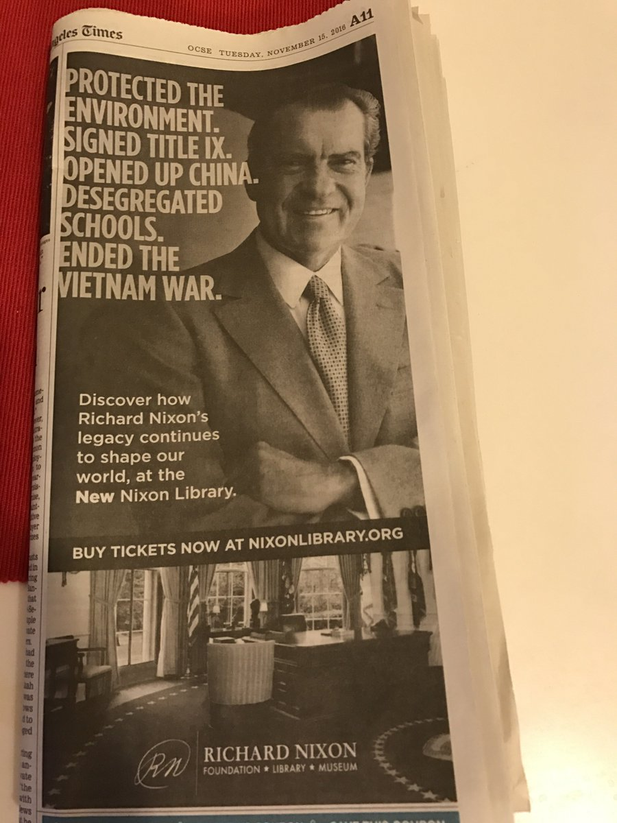 I feel like this Nixon ad in today's paper is trying to say something. https://t.co/L0f02uxdtq