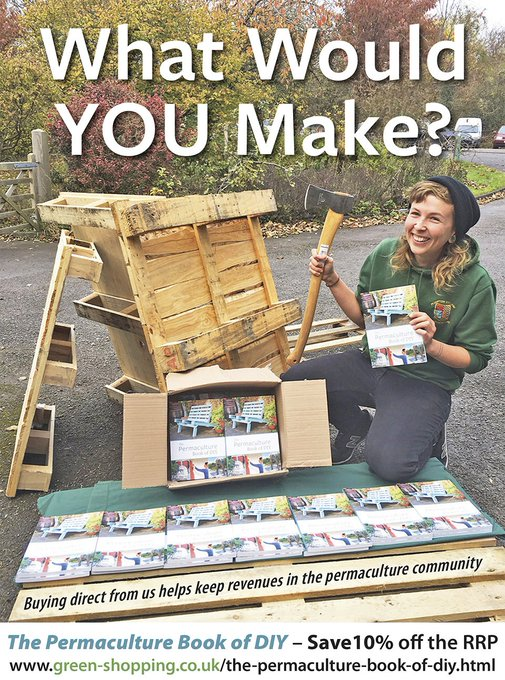Out today! Permaculture Book of DIY. What will you make?