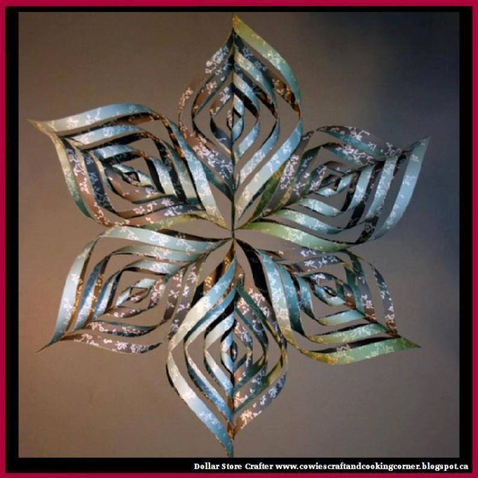 3D Snowflake TutorialLINK>>christmas crafts christmascrafts diyornaments