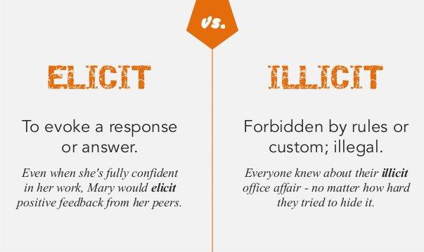 Illicit = illegal