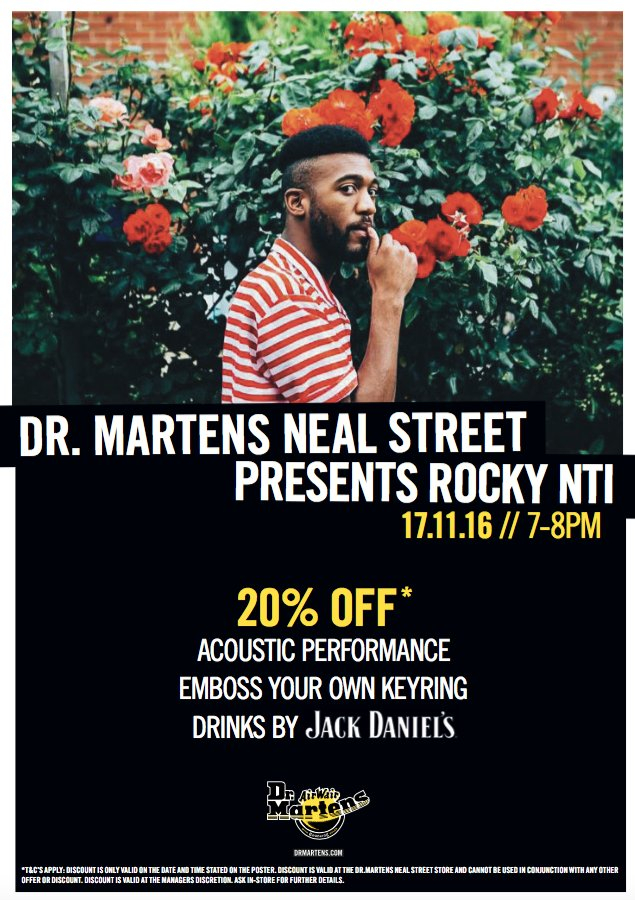 Seven Dials On Twitter Join Drmartens Neal Street This Thursday