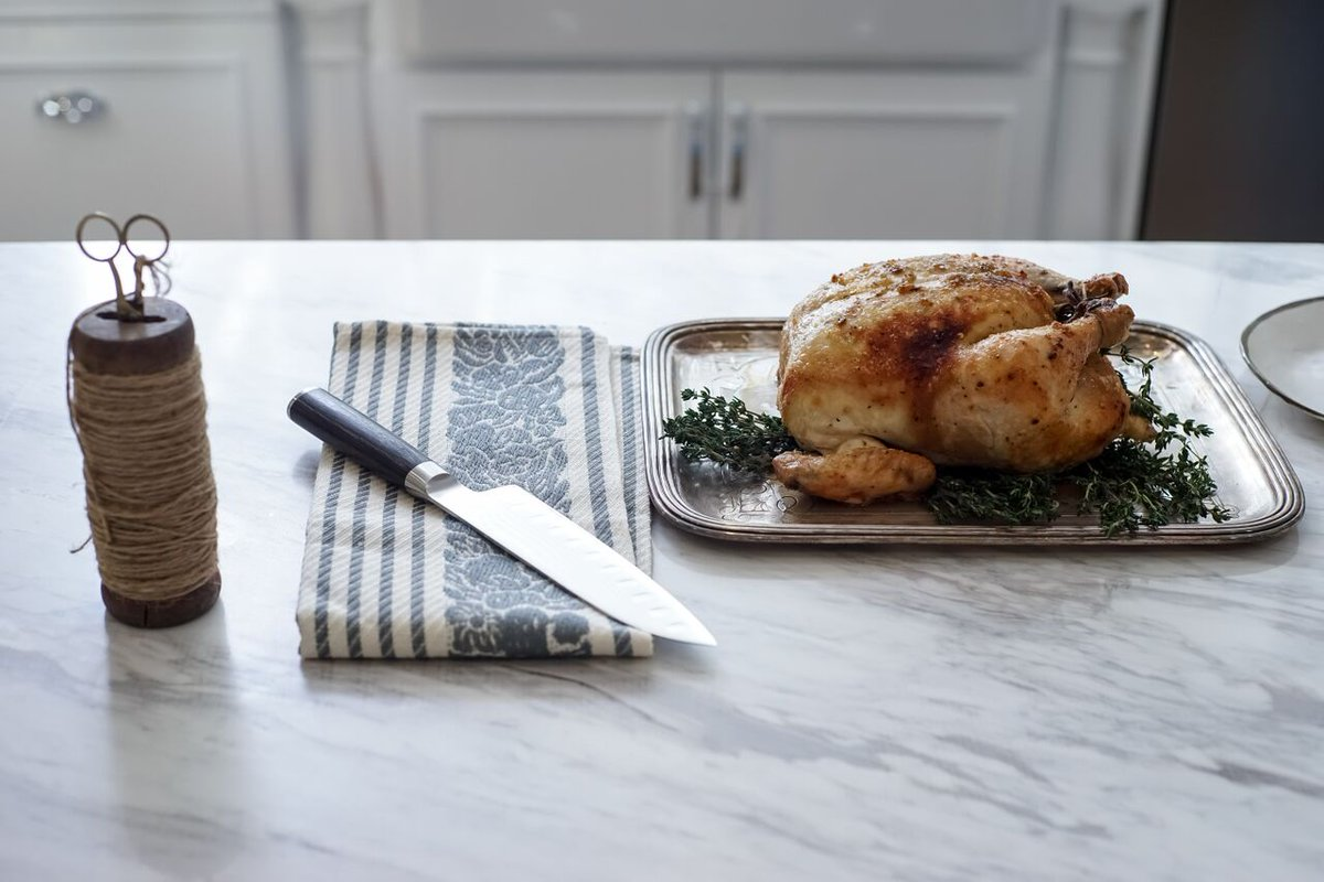 if a turkey just seems like 2 much to tackle on the big day try a roasted chicken my fave way to roast a bird on httprealgirlskitchencom - Real Girls Kitchen