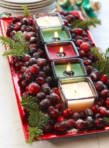 Who doesn't love a good DIY christmas centerpiece? decor design