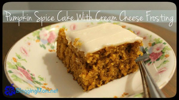 Another :) Pumpkin Spice Cake With Cream Cheese Frosting Recipe ://