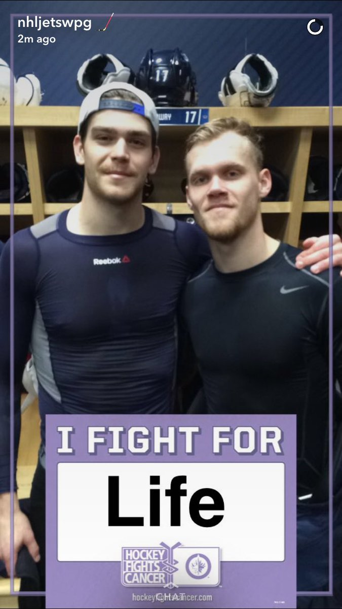 New Snapchat filter tonight! We want to know who you fight for. #HockeyFightsCancer