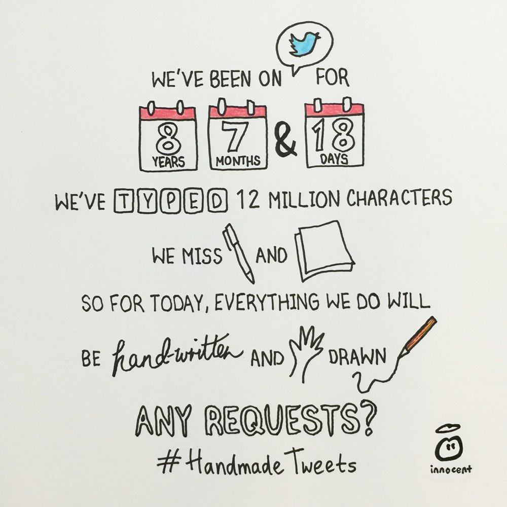 Innocent Drinks launch handmade tweets campaign