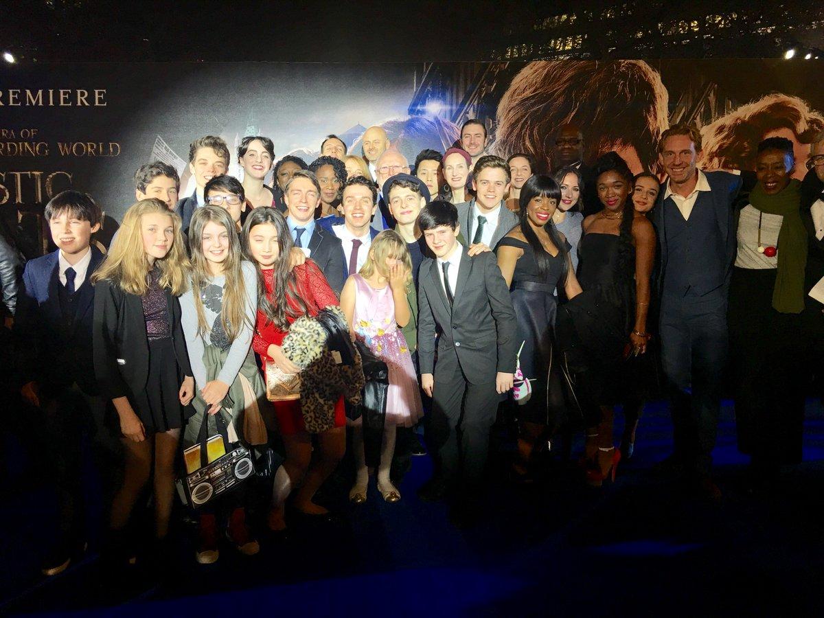 The #CursedChild cast on the blue carpet European premiere of #FantasticBeasts!
