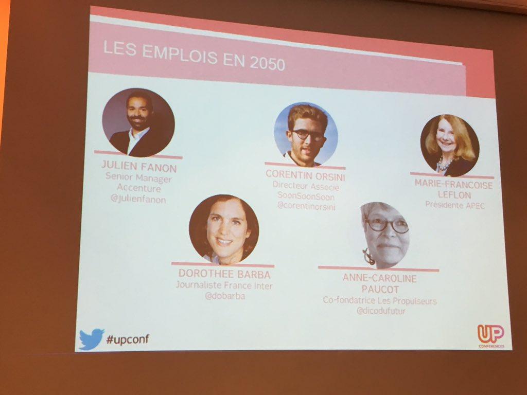 """#upconf sur les métiers du futur @Accenture """"citez-moi 1 métier qui ne sera pas impacté par le numérique"""" ⚡️🚀  #Ageekulteur &co be ready https://t.co/q7vrR1Q7LL"""