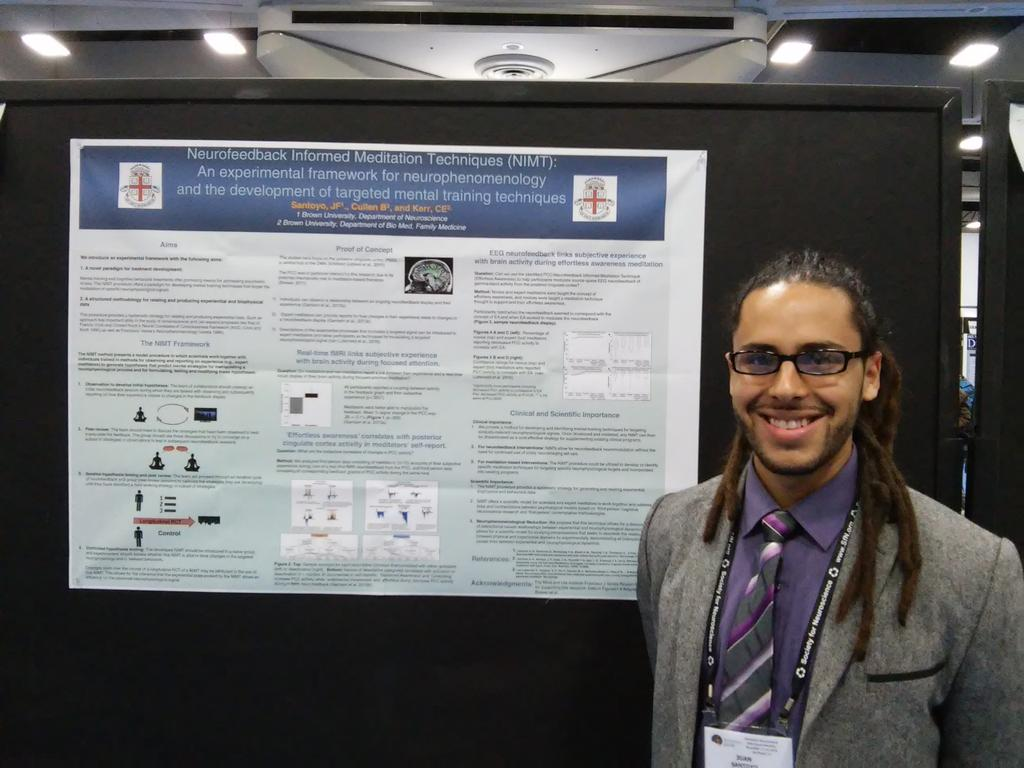 Poster LLL62: Juan Santoyo develops a method to involve groups of participants in providing a 2nd person perspective on meditation #sfn16 https://t.co/JpKw9d3dD7