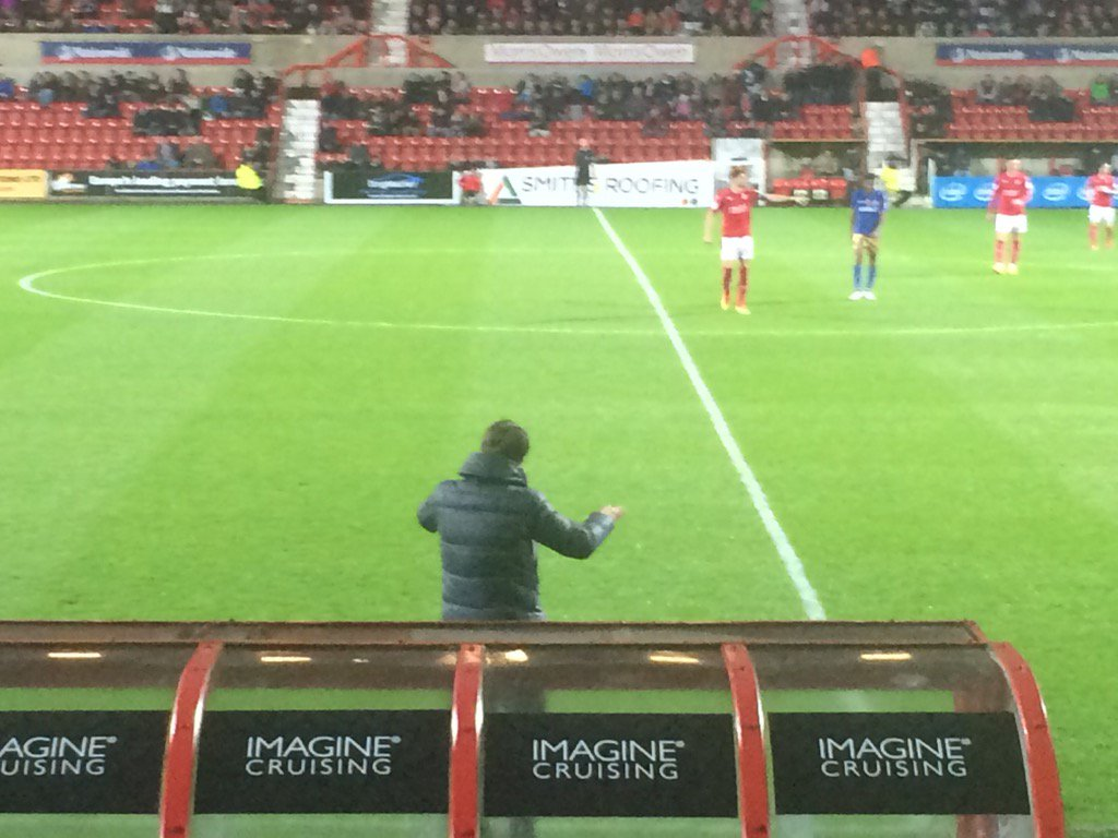 Tim Sherwood takes to bench #STFC after a touch line rant https://t.co/27T0Jy90sl