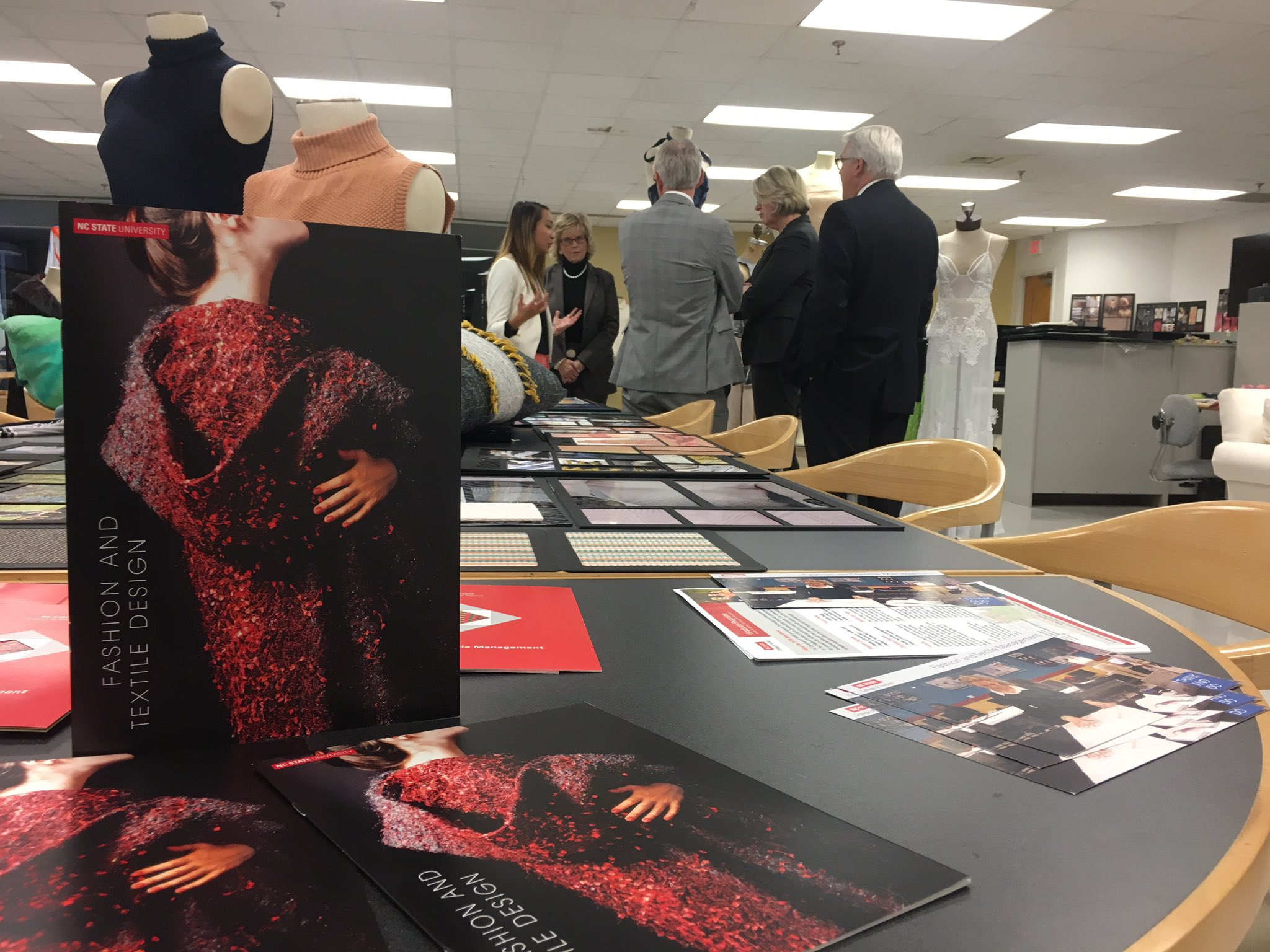 Wilson College Of Textiles On Twitter Ftd Senior Lisa Hoang Talks With Chancellor Woodson David Hinks And Margaretedu About Her Nyfw Experience Wemakeamazing Https T Co Ula4k2o7hw