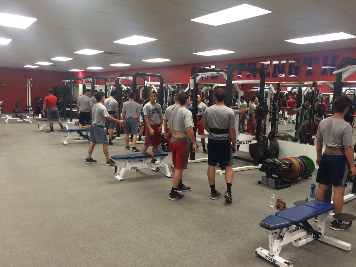 FAU Baseball On Twitter Now The Team Is In Weight Room Prepping For Squats
