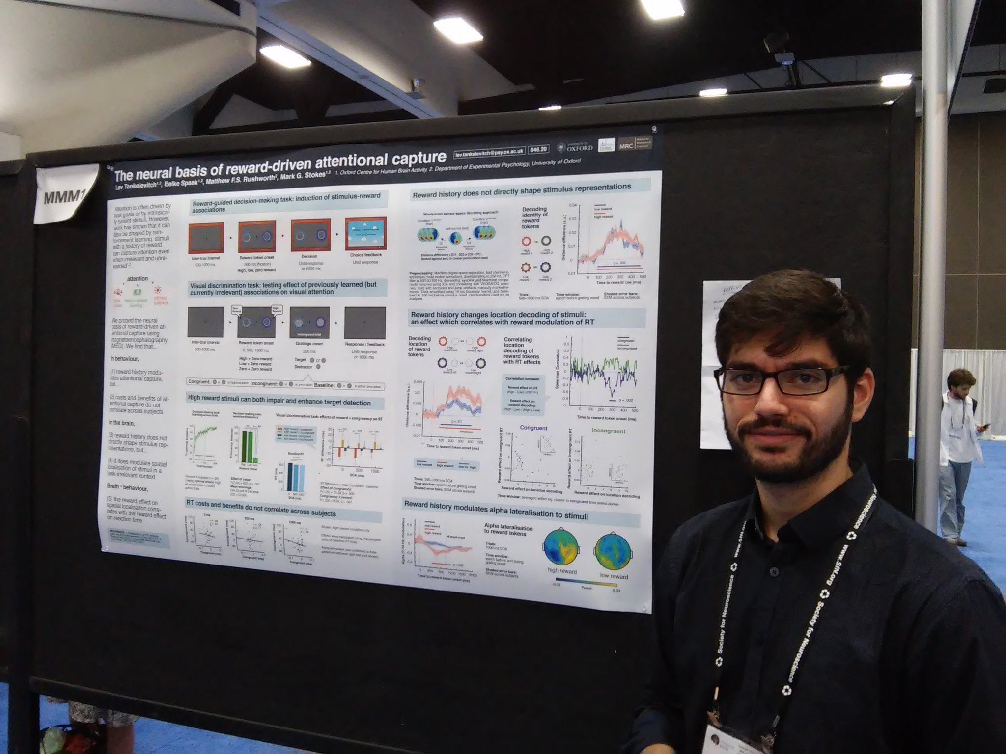 Poster MMM1 Tankelevitch & @StokesNeuro show how reward cue-locked alpha oscillations reflect attn capture by reward #sfn16 #plos https://t.co/lk6cknpGyI