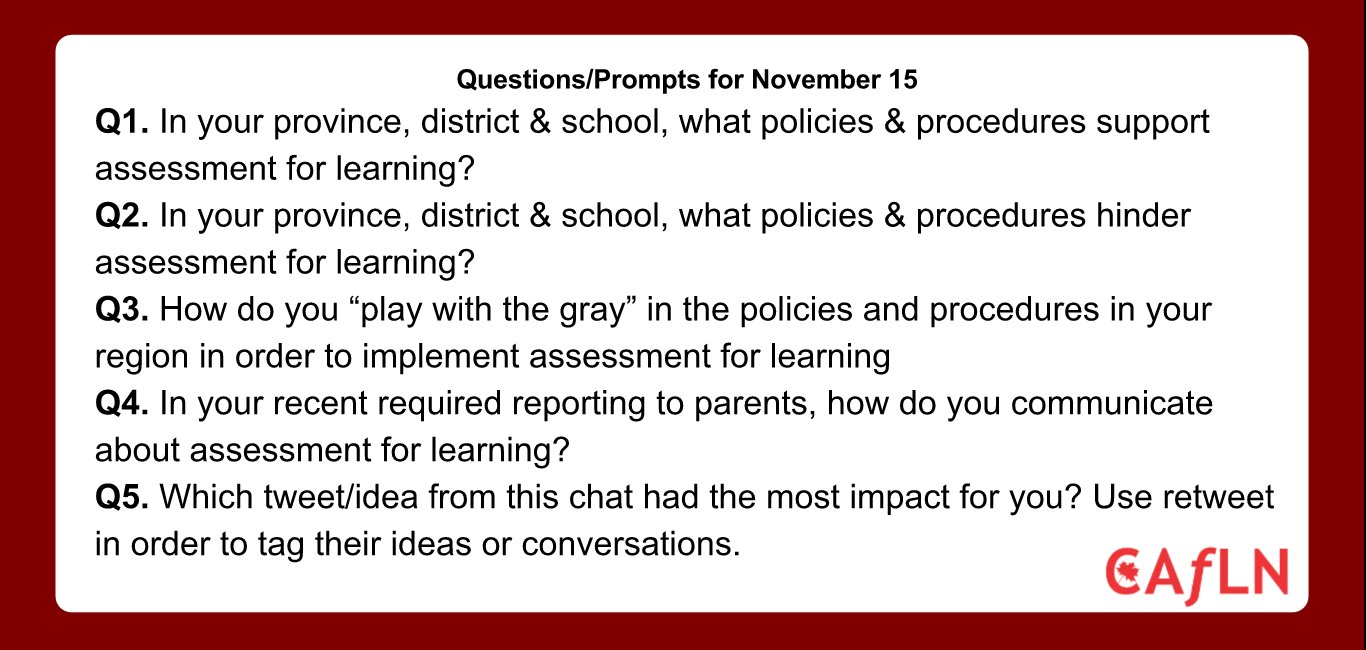 Two hours till #caflnchat. Please joins for these questions. #ONedchat #CDNedchat #PeelABC #COLchat #sblchat https://t.co/PNSSXYzNIx