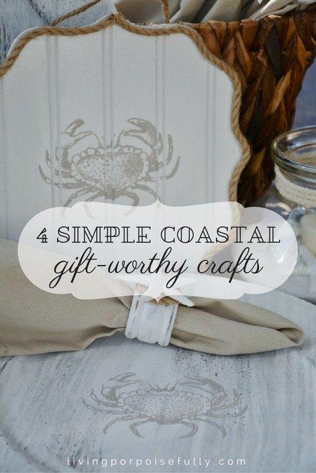 4 Simple Coastal Gift-Worthy Crafts: diy gifts crafts beachhouse