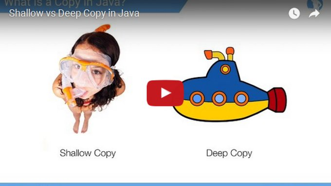 Check out this highly rated video tutorial about a Shallow vs. a Deep Copy in Java: