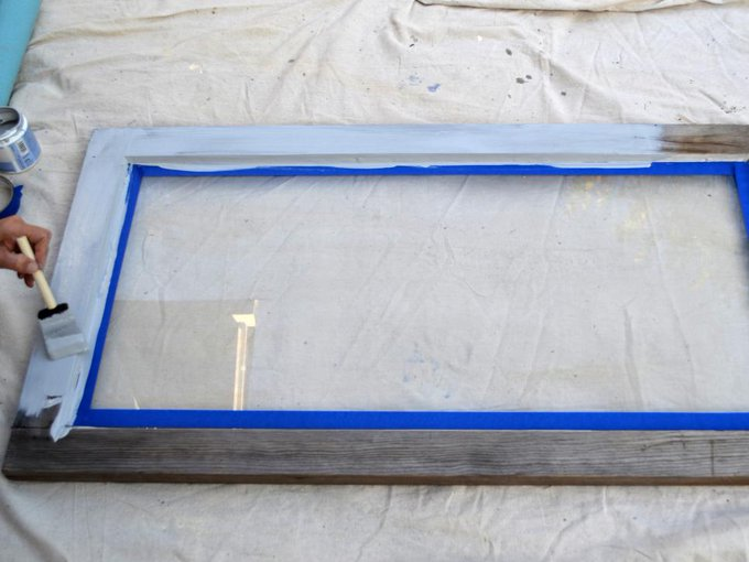 Turn an old window frame into something great! DIY homeimprovement
