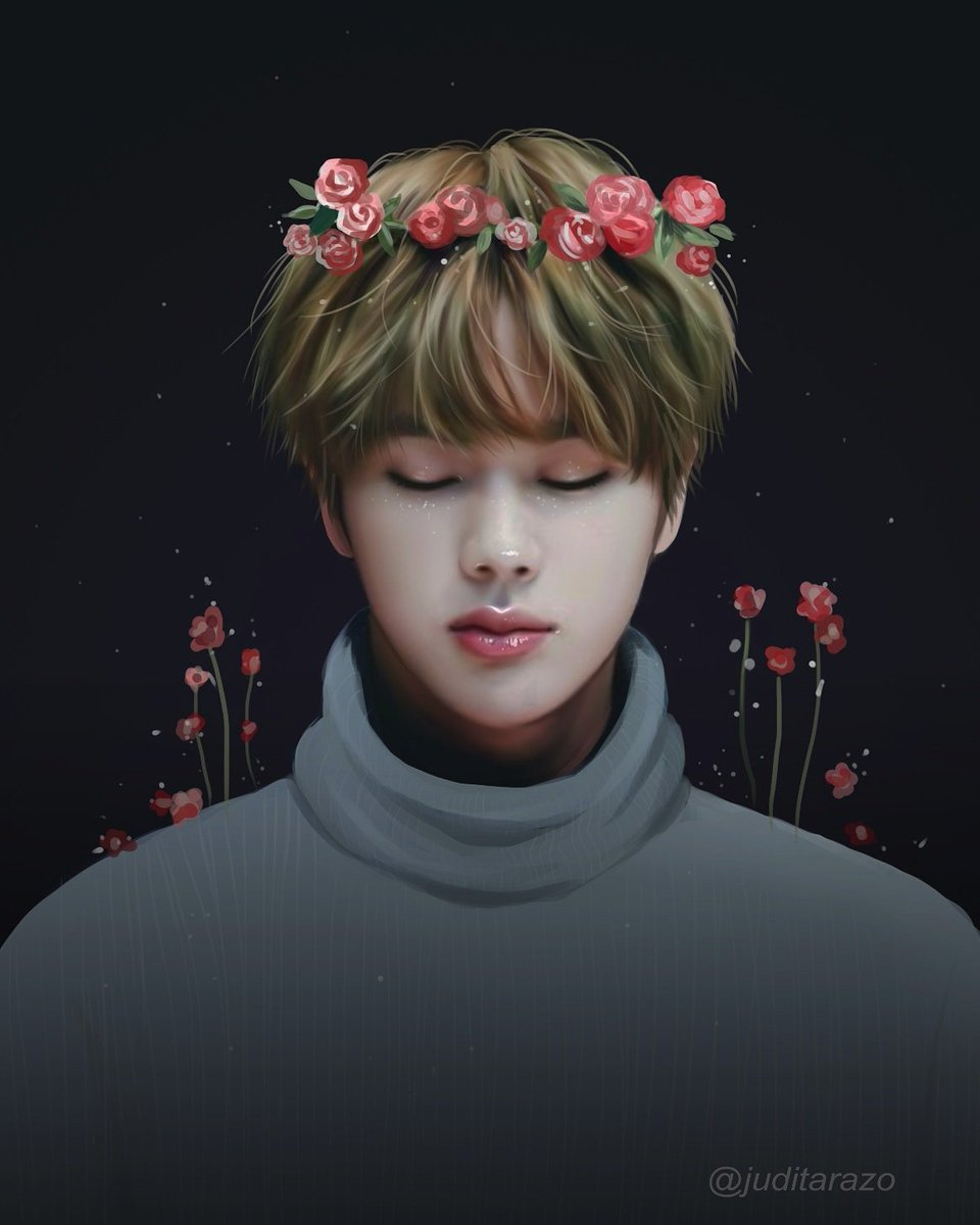 "Juditarazo🐰 On Twitter: ""Flower Fairy Jin(?) [bts Fanart"