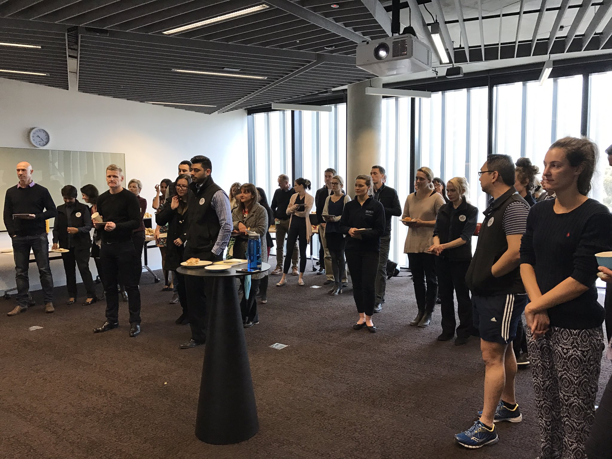 Great to see so many @Deakin staff members showing their support for #DeakinWISE Week this morning over morning tea! #WomenInSport https://t.co/wwvJ4K1MYn