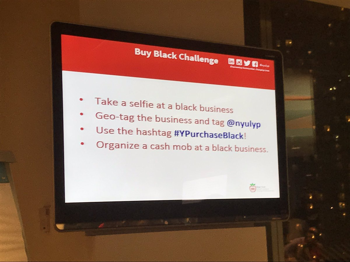 Participate in the buy black challenge!  #YPurchaseBlack #NDOE16 #NYULYP #YPempowered https://t.co/AsRc0wnt5p