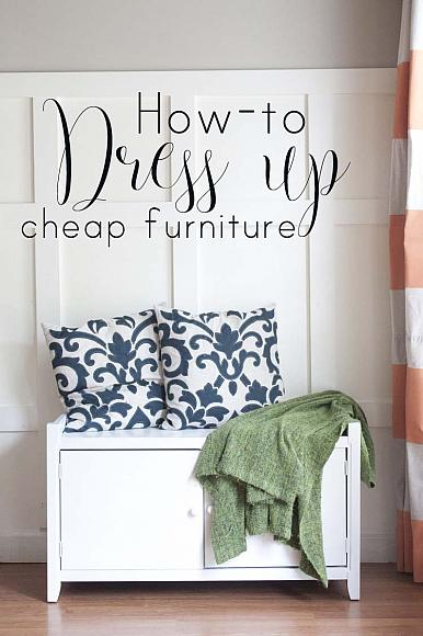Looking for a DIY project? - How To Dress Up Cheap Furniture tutorial decoartprojects