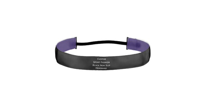 DIY gift Create Custom Sport Fashion Black NonSlip Headband