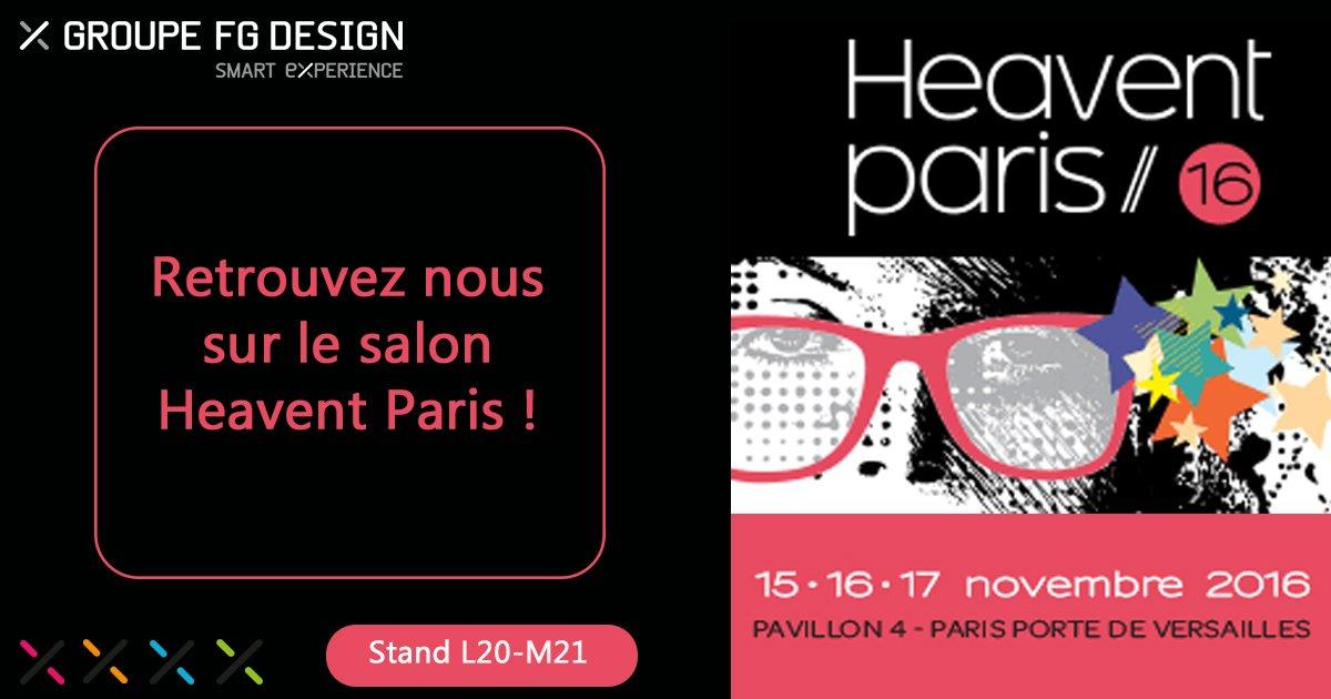 Le Groupe FG Design, présent sur le salon @heaventparis , rendez-vous des #eventprofs https://t.co/zIambJDySh