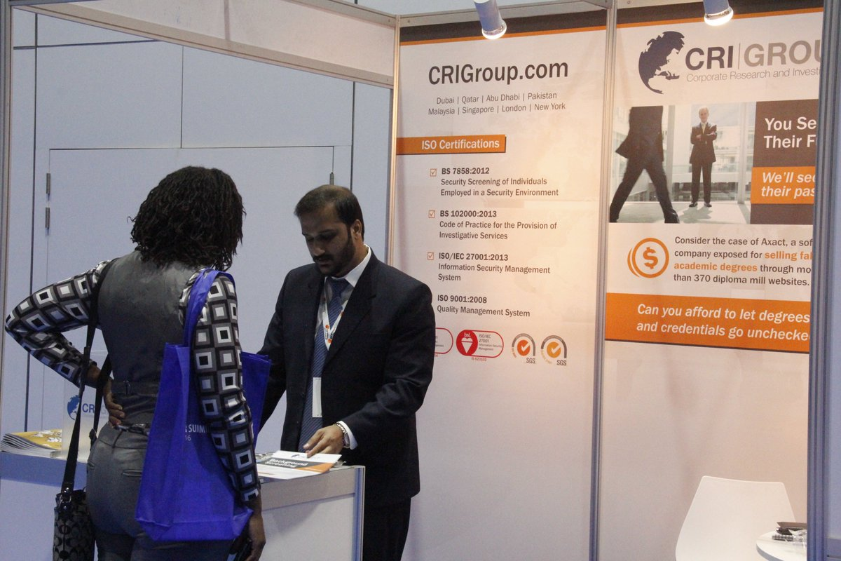 Cri Group On Twitter At 1st Day Of Hr Summit Dubai We Have Had A Great Time Explaining The Risks Of Hiring Employees Without Background Screenings