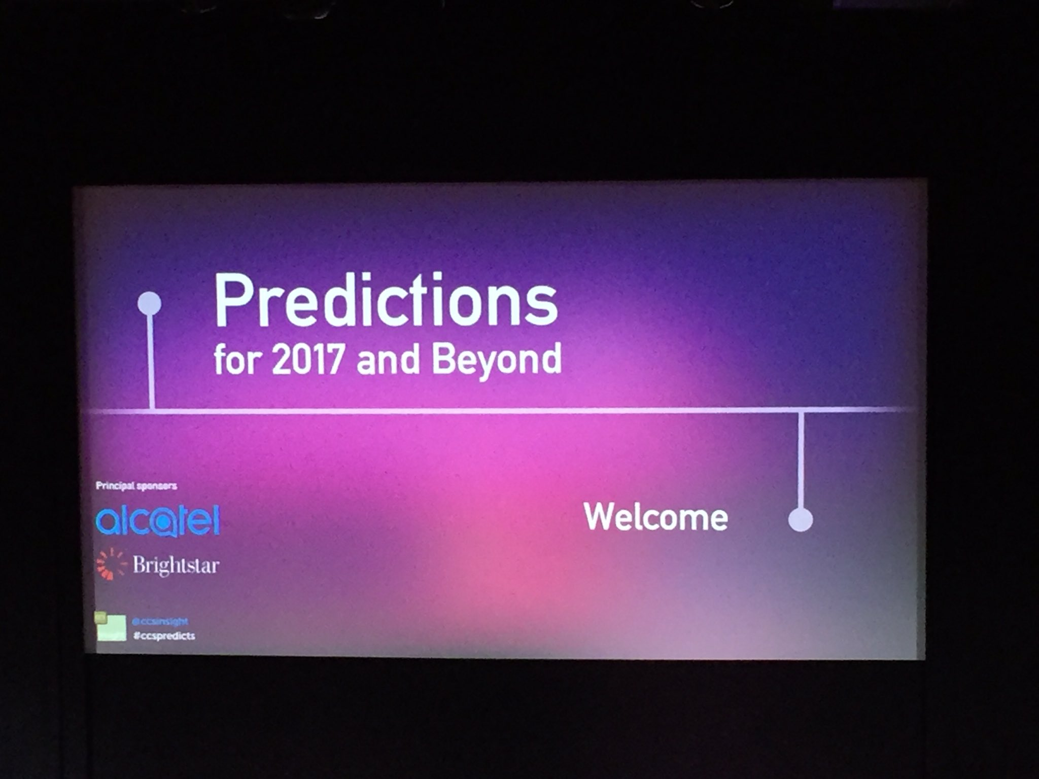 It's all kicking off at #ccspredicts - excited to hear what the future holds... https://t.co/YPxRRWSLX7
