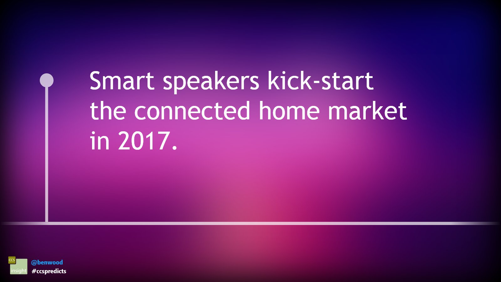 Smart speakers kick-start the connected home market in 2017 #ccspredicts https://t.co/z7yR5mrTR1