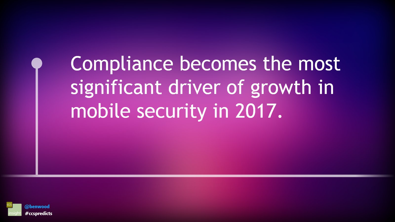 Compliance becomes the most significant driver of growth in mobile security in 2017 #ccspredicts https://t.co/Zl7V1C4qh2