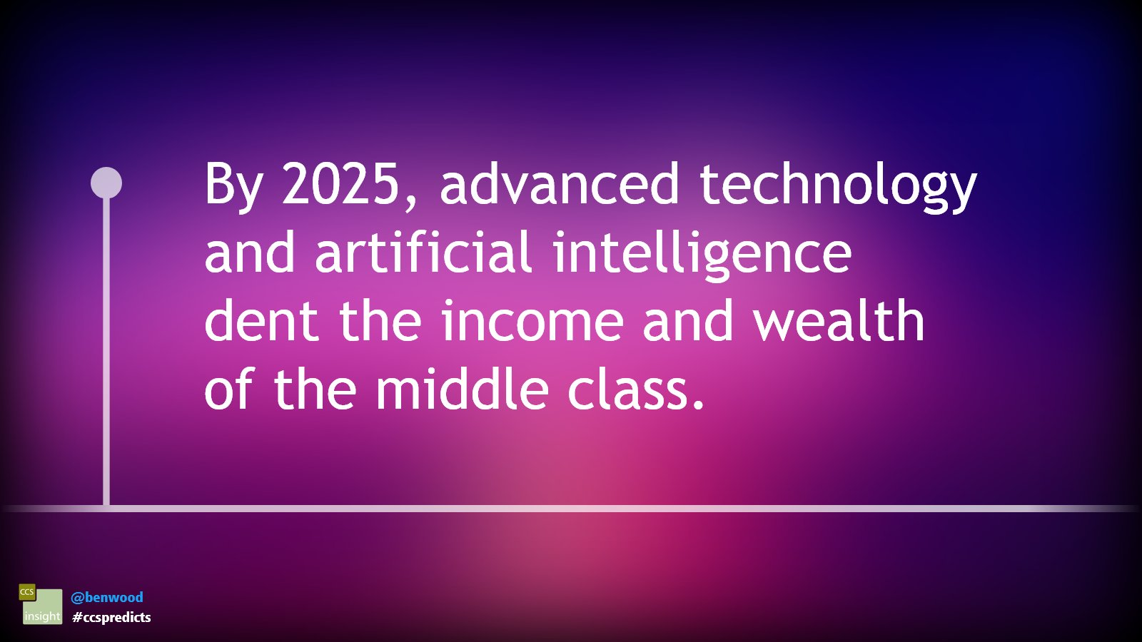 By 2025, advanced technology and artificial intelligence dent the income and wealth of the middle class #ccspredicts https://t.co/hSJKNAADjn