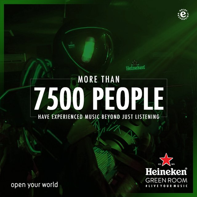 Join more than 7500 people to experience music beyond just listening. See you and let's #TouchTheMusic together! #HeinekenGreenRoom https://t.co/pJbsBG7RDa