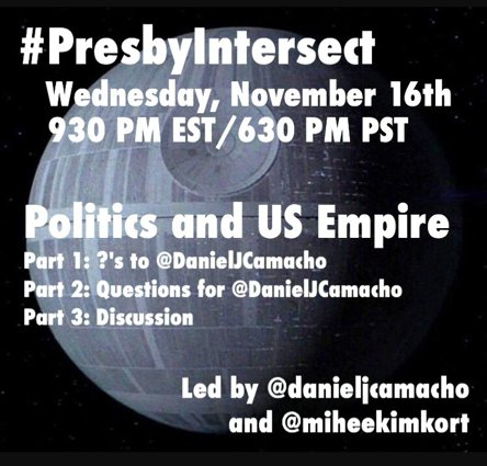 Don't miss out! #PresbyIntersect is TONIGHT at 9:30 PM EST with @DanielJCamacho & @miheekimkort #PCUSA https://t.co/zLgBm1Ii1x