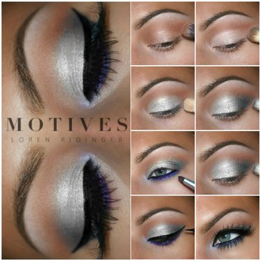 Look as smooth as ice with this holiday eye look. Deets here makeup bbloggers