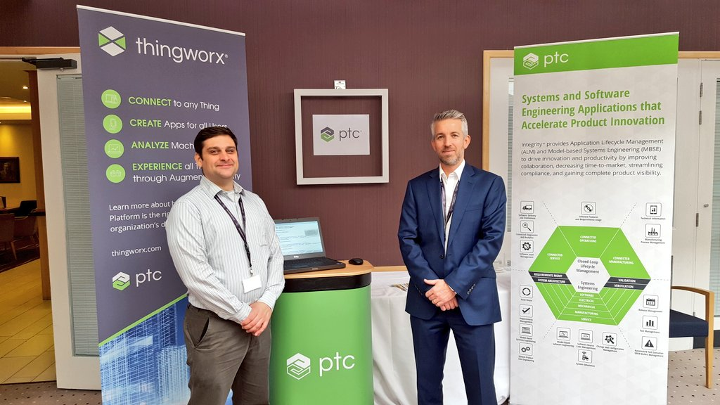 Enjoying great stimulating sessions @incoseuk #ASEC2016 today.Come & speak with my colleagues about #MBSE #IoT and @PTC_Integrity @ThingWorx https://t.co/MqrcoVdDSE