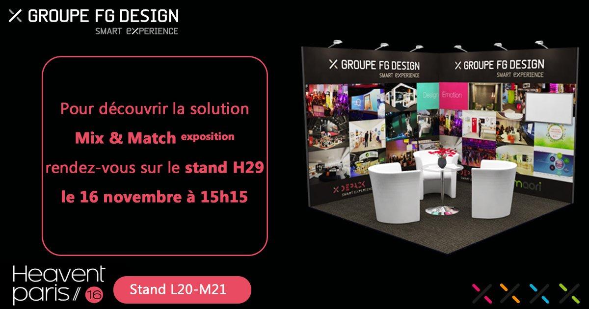 Venez découvrir la solution d'exposition Mix & Match à 15h 15 en Live sur @heaventparis stand H29 https://t.co/8W3Bq4oVuu