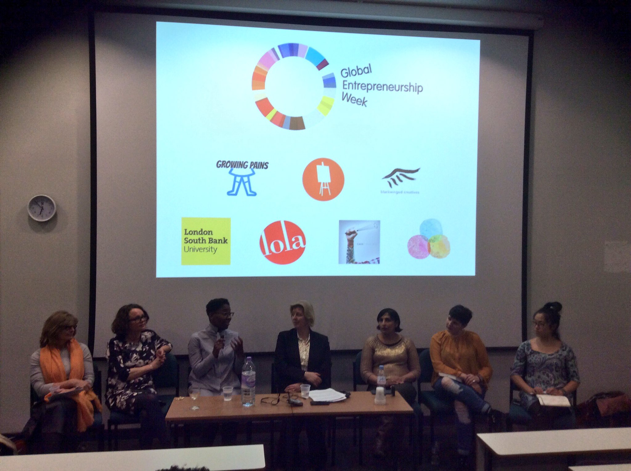 @GEWUK @LSBU the panel sharing their top tips.  We are also live tweeting @LSBU_Enterprise #lsbucreativeleaders https://t.co/Bcp2cDLp4v
