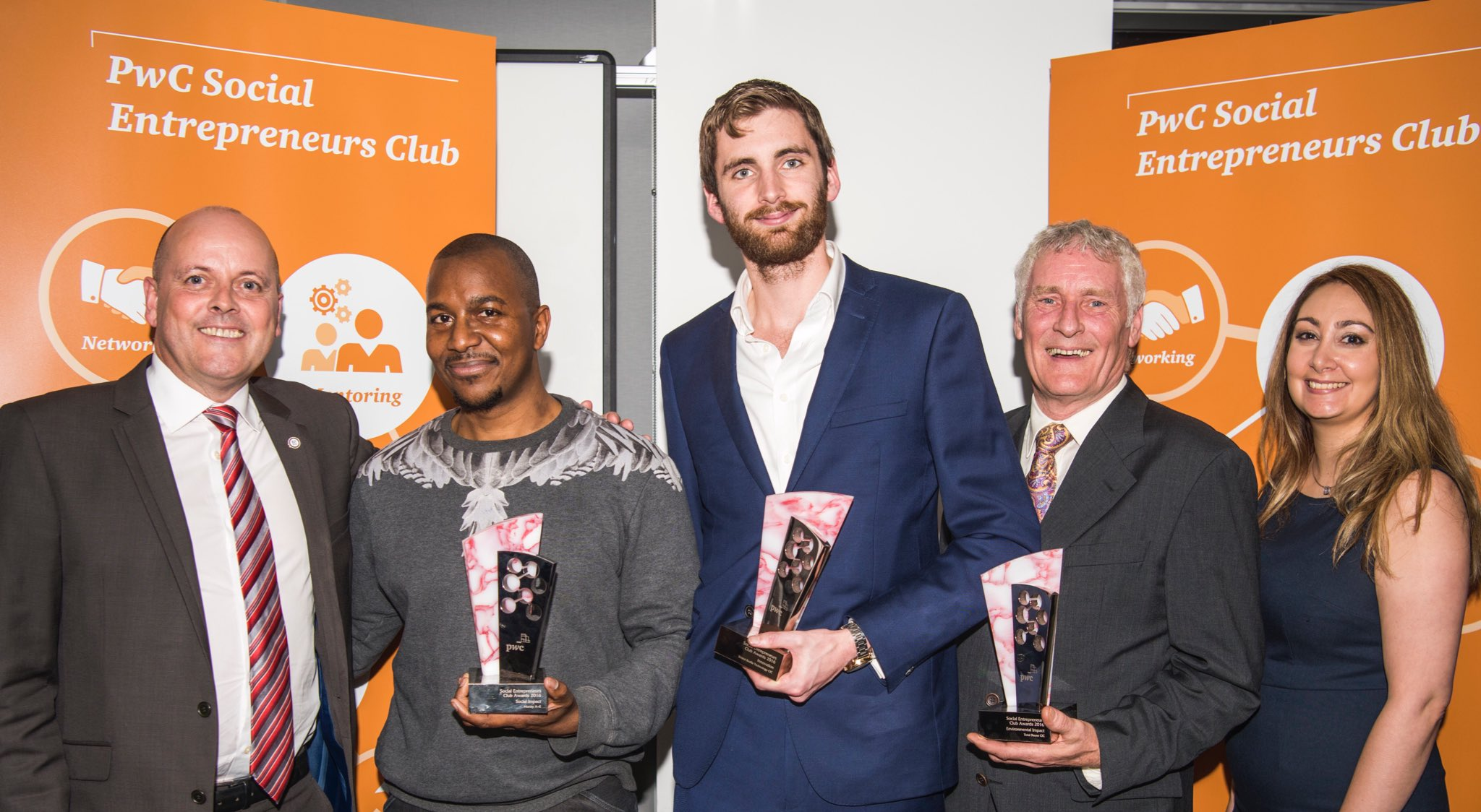 Well done #PwCSEClub Awards 2016 winners! Inspired by the     impact our members are having in their communities @PwC_UK @GEWUK #SocEnt https://t.co/HscdM8HD6l