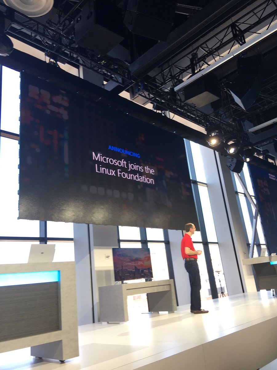 .@microsoft joining the @linuxfoundation #MSFTConnect https://t.co/yXvzzFvdC2