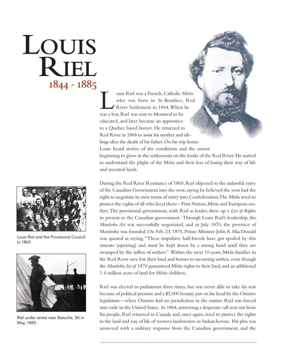 louis riel and the metis essay Louis riel essay, research paper riel, louis (1844-1885) louis riel was born in 1844 in the red river settlement (now manitoba) he had french, irish, and native american background he was sent to montreal to train for the priesthood when he was fourteen, but he never graduated he attempted training as a lawyer but he never finnished that.