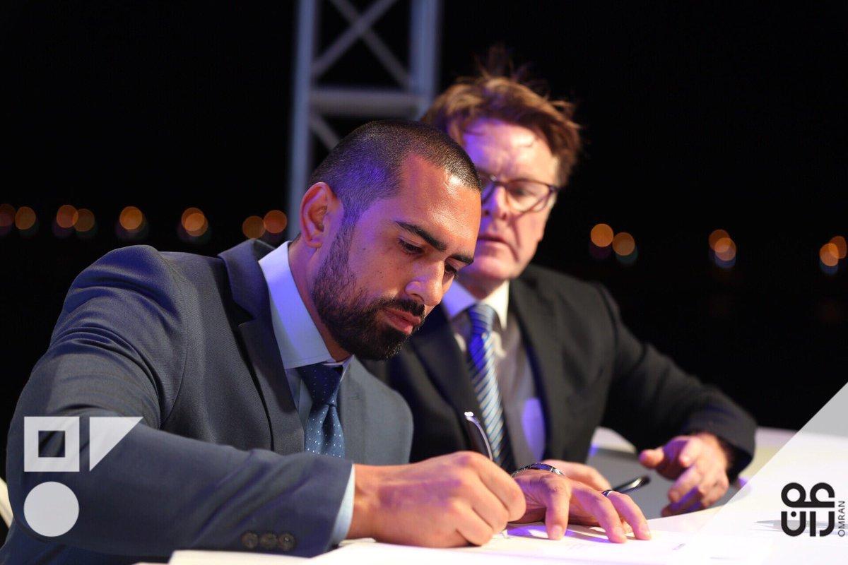 Travis Blizzard signing Souq Al Mina Contract