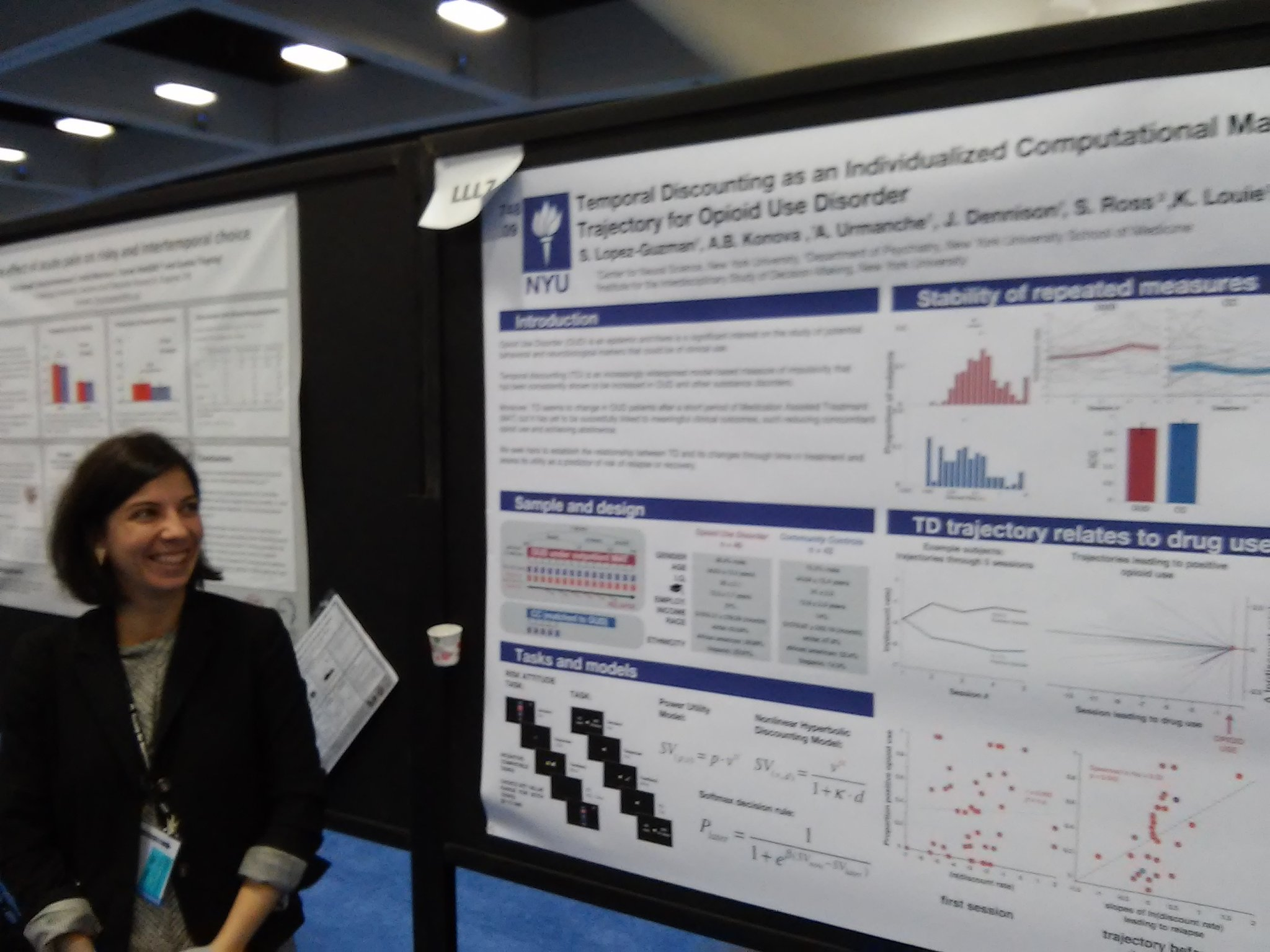 Poster LLL7 Lopez-Guzman: temporal discounting predicts concomitant illicit drug use #sfn16 #plos https://t.co/DkhEdDAPNm