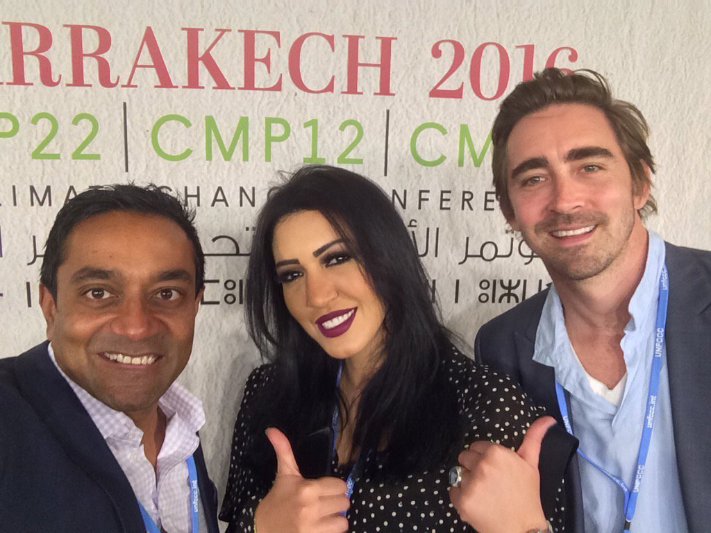 About to meet Sec Gen of #UN #COP22 with.amazing @AsmaLmnawar & @leepace @ConservationOrg https://t.co/YukWDlPZHh