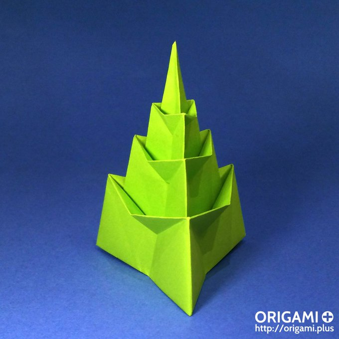 Easy diy origami Christmas tree! Tutorial: