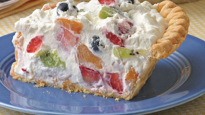 Fresh Fruit and Whipped Cream Pie & easy is next week