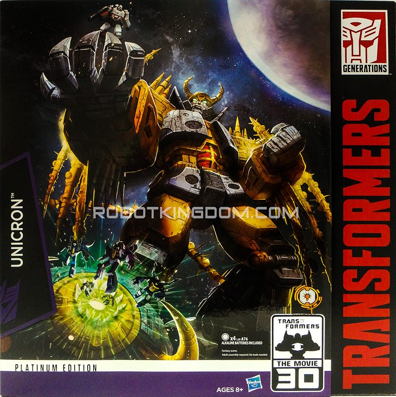 Platinum Edition Unicron Revealed | TFW2005 - The 2005 Boards