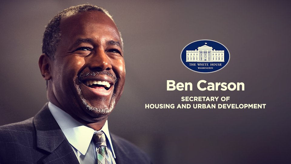 Image result for carson new hud secretary